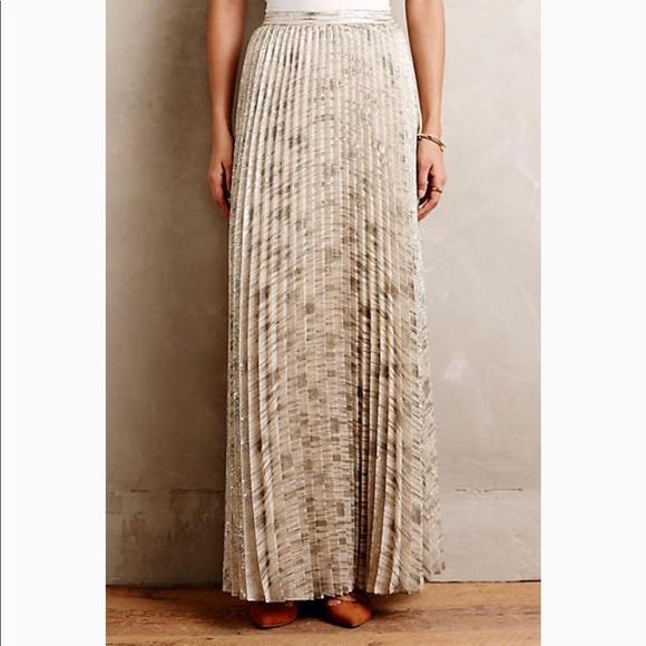 0b9b21172 Moulinette Soeurs Skirts | Anthropologie Gold Maxi Skirt | Poshmark